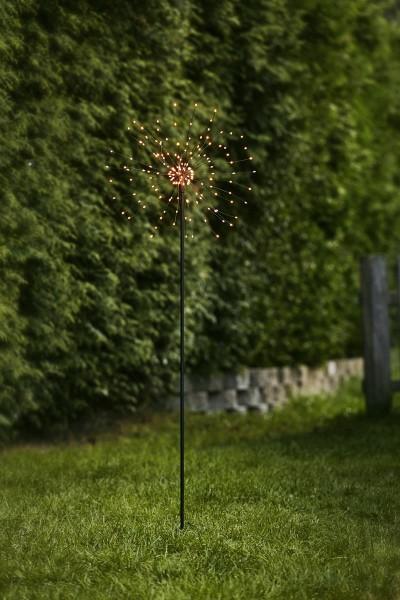 """LED Stab """"Firewok"""" - H: 110cm - schwarz - 160 kleine warmweiße LED - inkl. Trafo"""