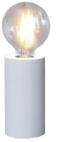 Lampenhalterung | TUB | E27 | stehend | mittel | ↑15cm | Weiß