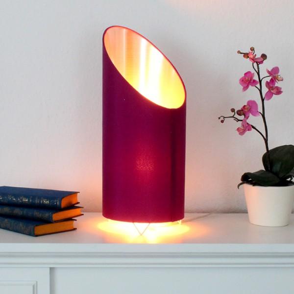 LED Flammenleuchte - Dekoleuchte - VINE beere/silber - realistische Fackelfunktion - H: 43cm D:18cm