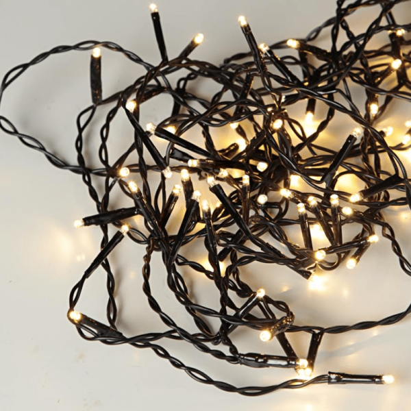 LED-Lichterkette | Serie LED | Outdoor | 16m schwarzes Kabel | 160 warmweiße LED