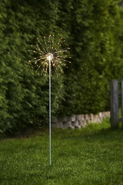 "LED Stab ""Firewok"" - 110cm - silber - 160 kleine daylight LEDs - inkl. Trafo"