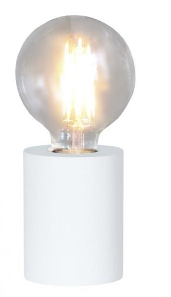 Lampenhalterung | TUB | E27 | Weiß | stehend | klein | ↑10cm | Weiß