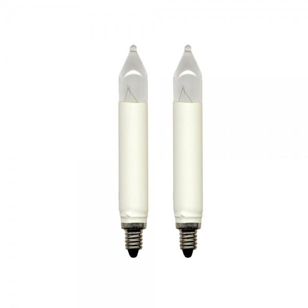 Schaft-Ersatz-Leuchtmittel - E10 - 34V - 3W - Warmweiß - 2 Stück