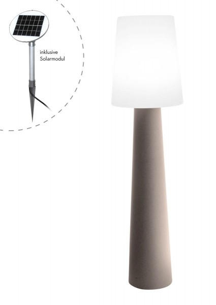 """Outdoor XL Stehlampe No. 1 """"Sand"""" H:160cm - Solar LED warmweiß - Außenleuchte IP44"""