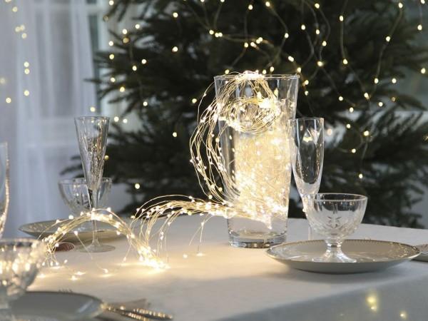 LED-Lichterkette | Flexi Line Indoor | 125 LEDs | 5 Stränge mit jeweils 10 LEDs 90cm sowie 5 Stränge mit jeweils 15 LEDs 140cm | warmweiß