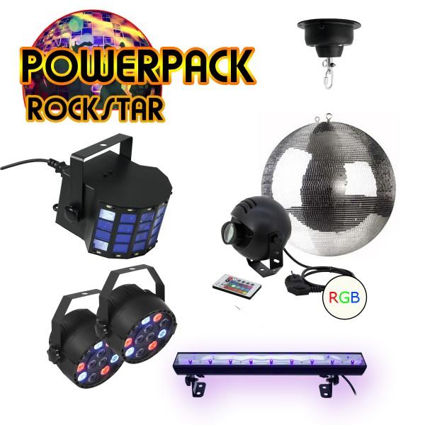 """PARTYRAUM POWERPACK """"ROCKSTAR"""" - 5 Effekte in einem SET - Bis ca. 250m²"""