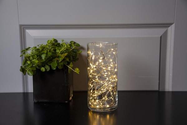 "LED-Drahtlichterkette ""Dew Drops"", 100 warmweiße LEDs - 5,0m - inkl. Trafo"