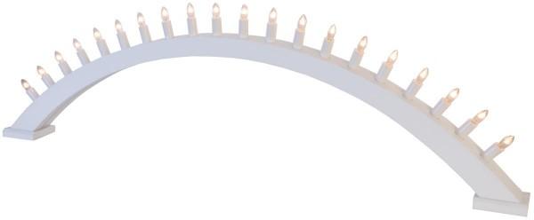 """Leuchtbogen """"Kulle"""" - 20flammig - Material: Holz - weiss - L: 105cm, H: 31cm - Schalter"""