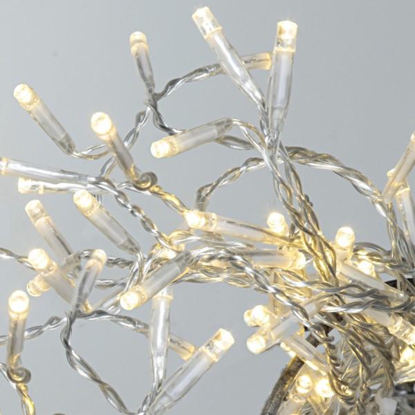 LED Lichterkette - Serie LED - 160 warmweiße LED - L: 16m - transparentes Kabel - für Außen
