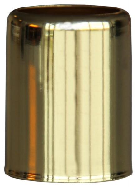Kerzenfuß messing - Höhe: 3,2cm, Durchmesser: 2,5cm - 7 Stück Set