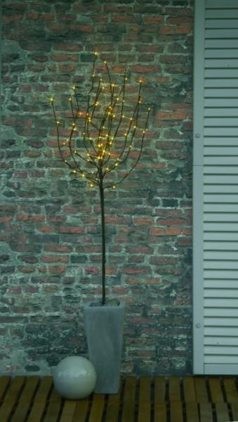 LED-Lichtbaum - 110cm - 70x warmweiße Micro-LEDs - Trafo - ganzjährige Gartendekoration