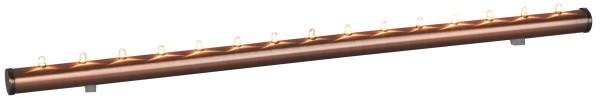 Fensterleuchter Light Flute - 15flammig - warmweiße Birnchen - L: 56,5cm - Schalter - Kupfer