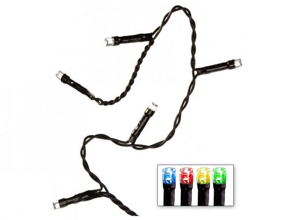 LED-Lichterkette | Serie LED | Outdoor | Schwarzes Kabel | bunte LED | 4,00m | 40x