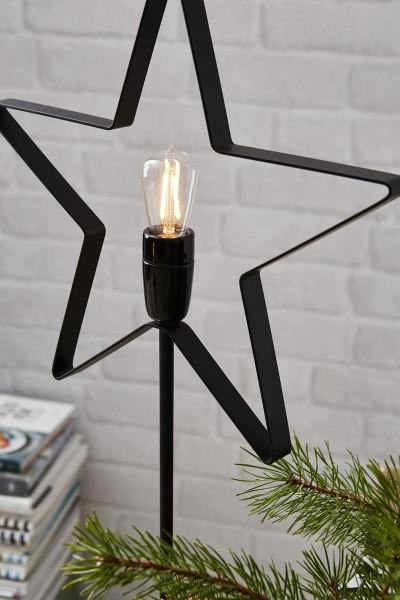 """Standstern """"Orbit"""" ca. 33 x 70 cm, mit E14 Fassung Farbe: schwarz, 1,8 m Zuleitung inkl. LED-Leuchtmittel, Vierfarb-Karton"""