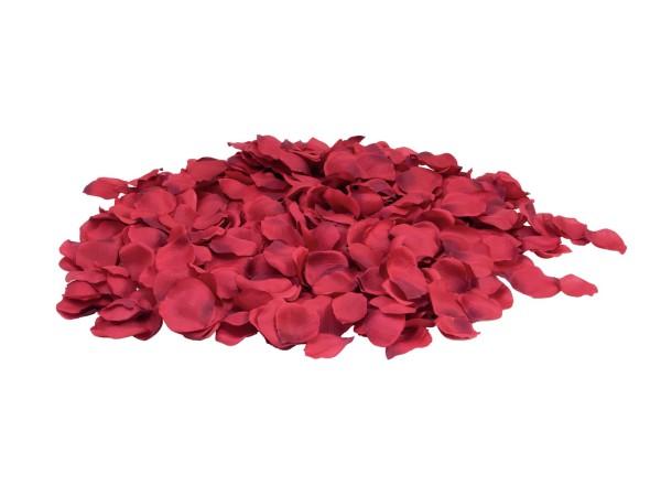 Rosenblätter, rot, 500 Stück aus Textil, Größe 8cm - Romatik-Dekoration