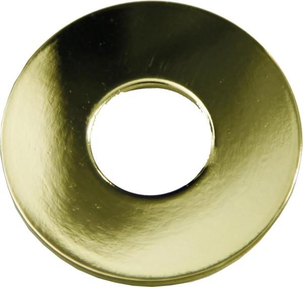 Tropfschutz Kerzenring Metall golden - 5cm Durchmesser - 7 Stück Set