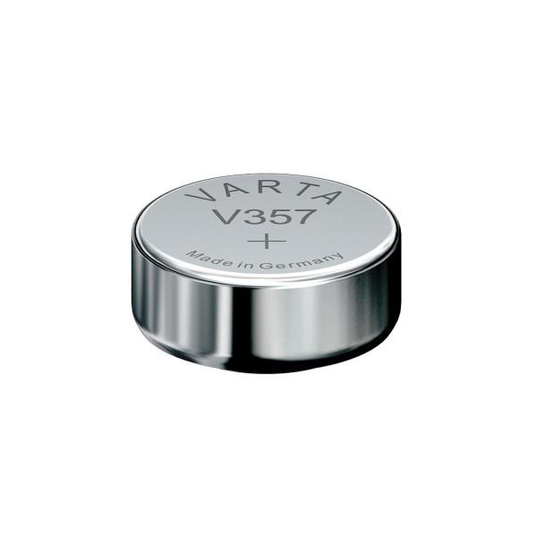Knopfzelle / Uhrenbatterie - 1 Stück - Varta V357 - 1,55V (SR44)