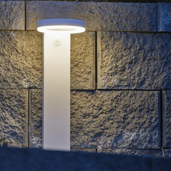 LED Solar Wegleuchte VIDI - Kunststoff - 40 warmweiße LED - H:60cm - Dämmerungs-/Bewegungssensor