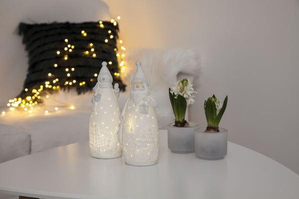 "LED-Keramik-Figur""Vinter"" - Santa - warmweiße LED - ↑20,5cm"