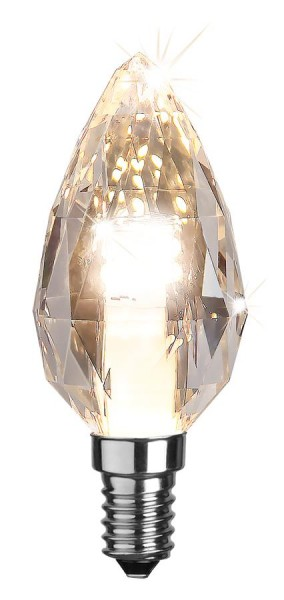 LED Kerzenlampe DIAMOND C35 - E14 - 4W - warmweiss 2700K - 300lm - dimmbar