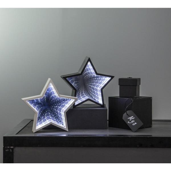 """LED-Leuchtstern """"Mirror"""" - 23 kaltweiße LED - weiss - Material: Kunststoff - H: 19cm"""