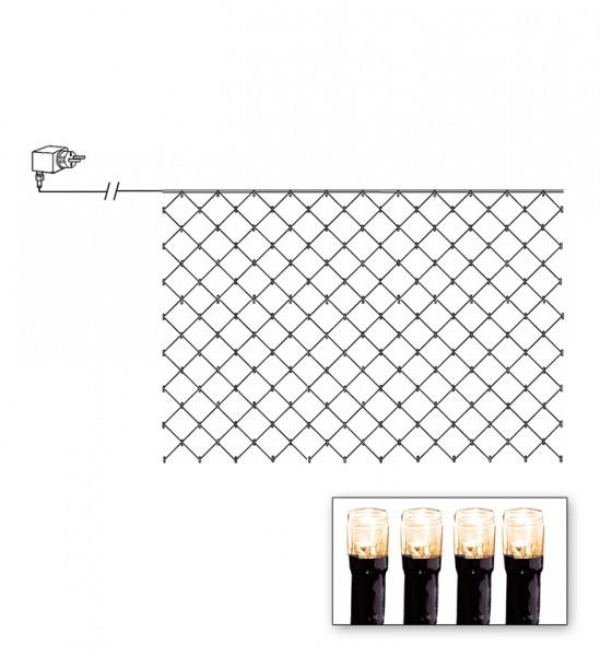 LED-Lichternetz | Serie LED | Outdoor | Schwarzes Kabel | warmweiße LED | 3.00m x 3.00m | 180x LEDs