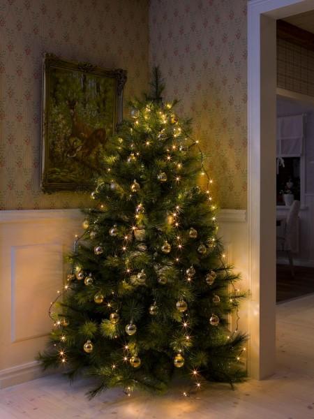 LED Baummantel Lichterkette - 5 x 1,80m - 5 Stränge mit jeweils 30 Ultra Warmweiß LEDs - Indoor