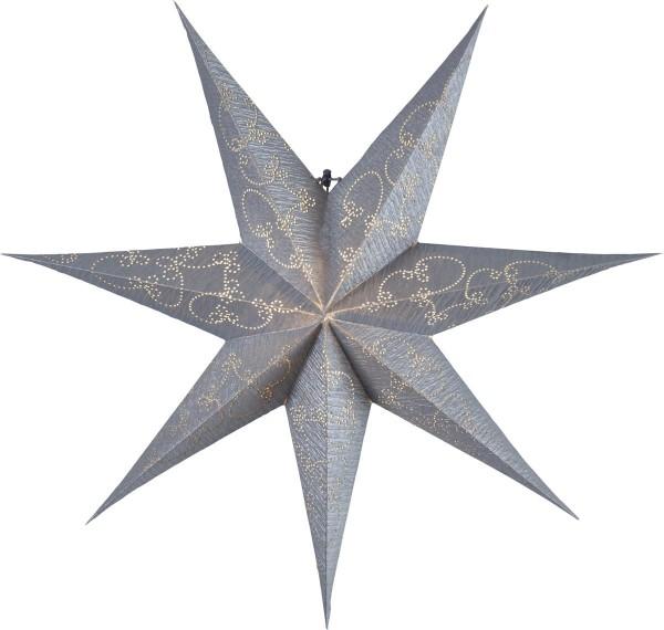"""Papierstern """"Decorus"""" - hängend - 7-zackig - Ø 63 cm - silber"""