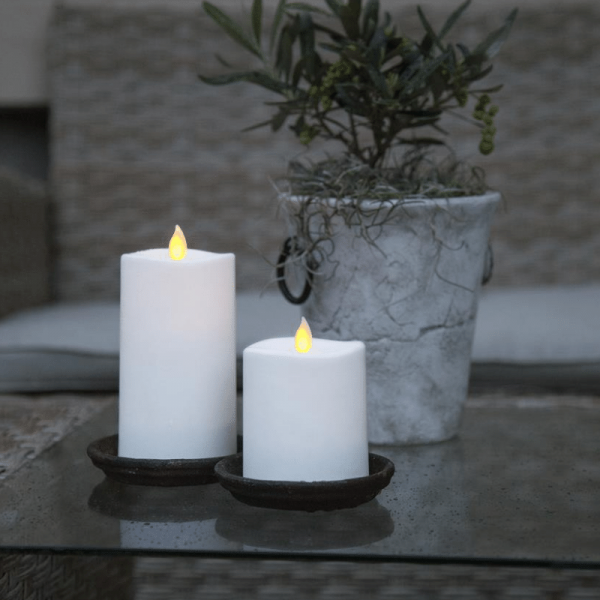 LED-Kerze | Glim | mechanisch bewegte Flamme | ↑13,5cm