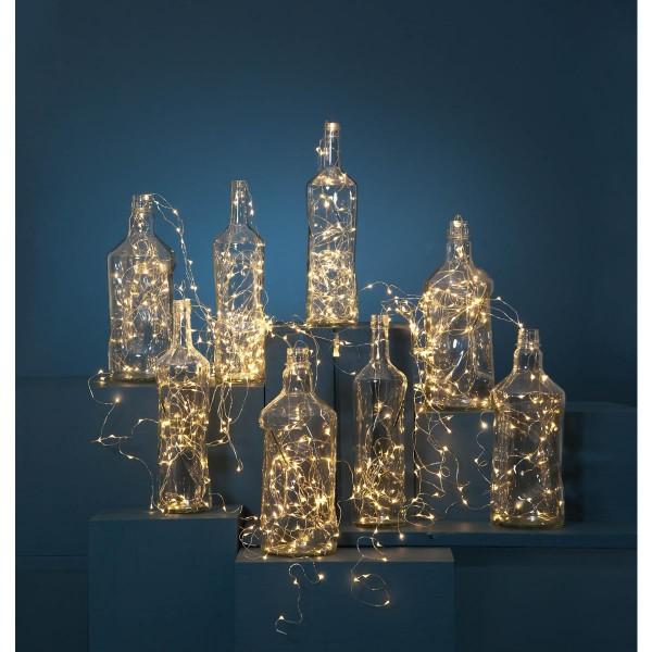 "LED-Lichterbouquet ""Dew Drops"" - 720 warmweiße 2000K LEDs auf 36 Drähten - 3,0m - inkl. Trafo"