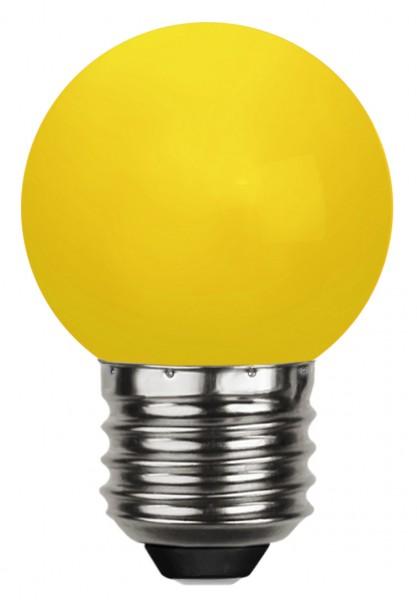 LED Kugellampe DECOLINE G45 - 0,8W - gelb - 16lm - E27