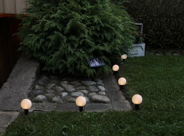 LED-Solarlichterkette - Energy Line Outdoor - inkl. Akku - 5,00m - 6x Warmweiß