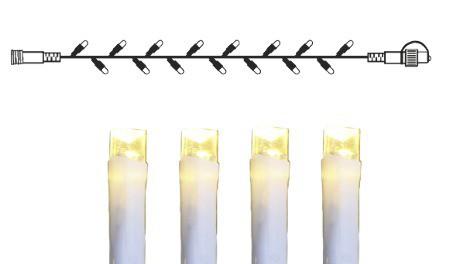 System DECOR | Lichterkette 5m | koppelbar | weißes Kabel | 50 warmweiße LEDs