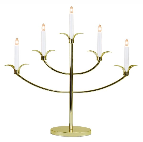 "Kerzenleuchter ""Tilpi""- 5flammig - H: 52cm - bronze - warmweiße Glühlampen - inkl. Trafo"