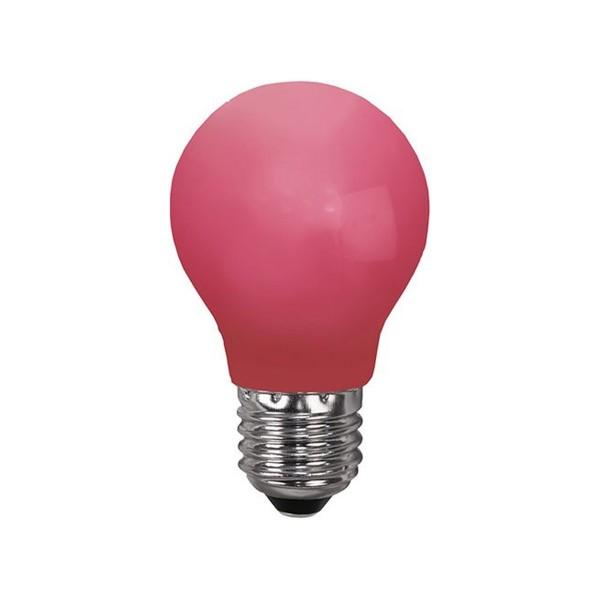 LED Leuchtmittel DEKOPARTY rot - E27 - 0,7W LED - schlagfestes Polycarbonatgehäuse