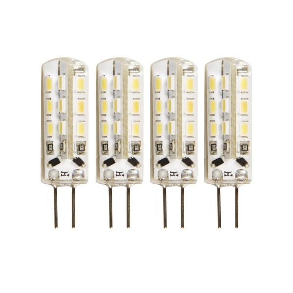 4er - LED Leuchtmittel Stiftsockel G4 - 12V - 1,5W - 120lm - 3000K