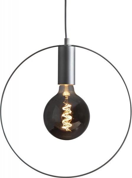 "Deko-Lampenfassung SHAPE ""C"" - silber - D: 37cm - E27 - max 25W"
