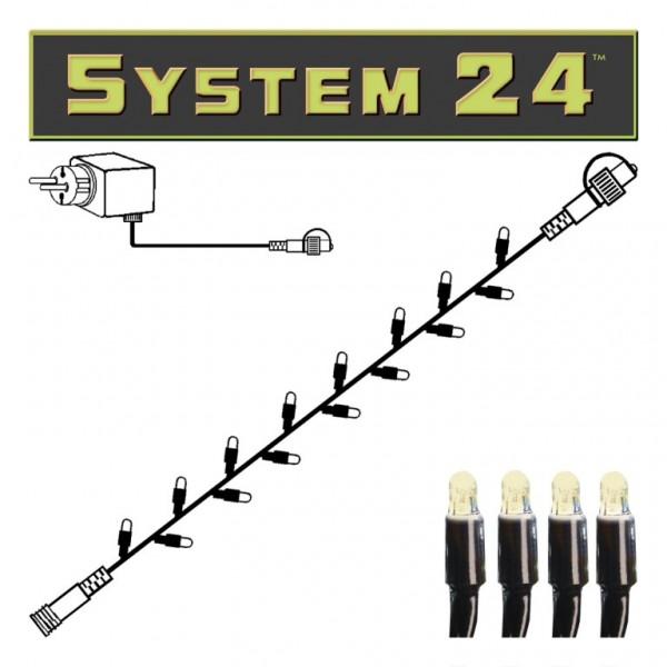 System 24 | LED-Lichterkette | koppelbar | inkl. Trafo | 5.00m | 49x Warmweiß