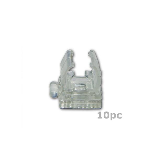 Clip für Lichtschläuche 10er Set - (12-13mm) - 2,5x2,5cm - Parallelverlegung