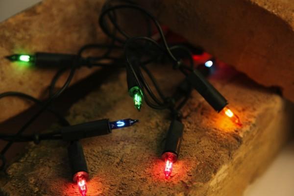 Weihnachts-Lichterkette | BASIC-Konstsmide | 14,85m | 100x Glühlampen | Mehrfarbig