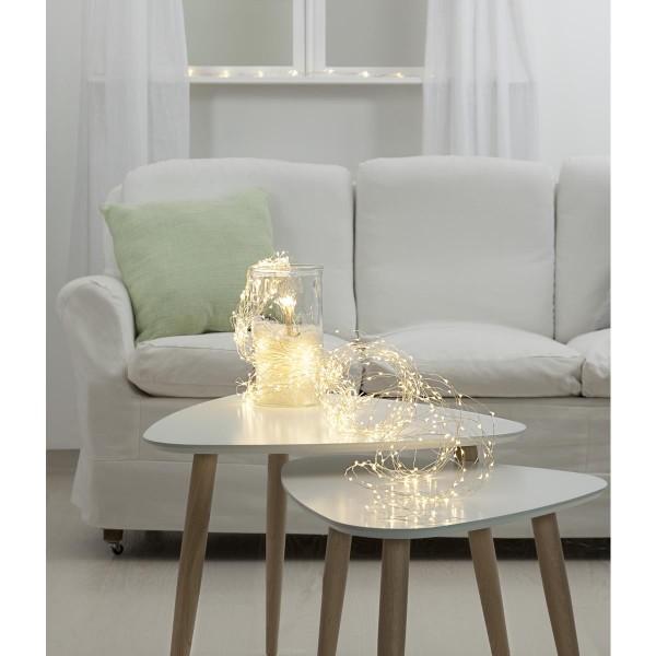 "LED-Lichterbouquet ""Dew Drops"" - 720 weiße 2700K LEDs auf 36 Drähten - 3,0m - inkl. Trafo"
