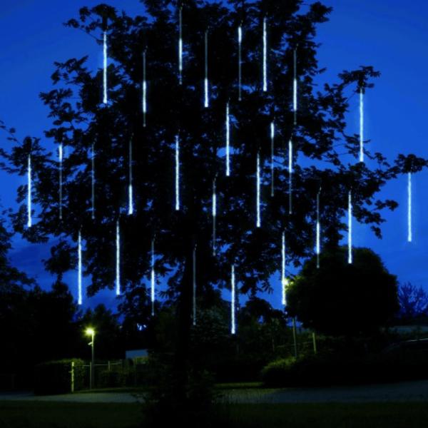 LED-Schneefall-Lichterkette - Snowmotion Line Outdoor - Erweiterung - 7,50m - 5 Stäbe (30+45cm)