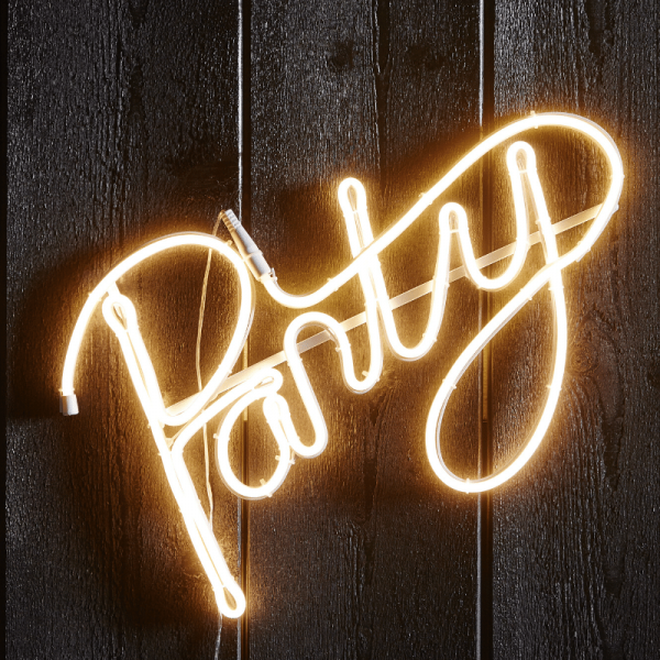"LED Silhouette ""Party"" - Flatneon - 305 LED - H: 31cm - outdoor - warmweiß"