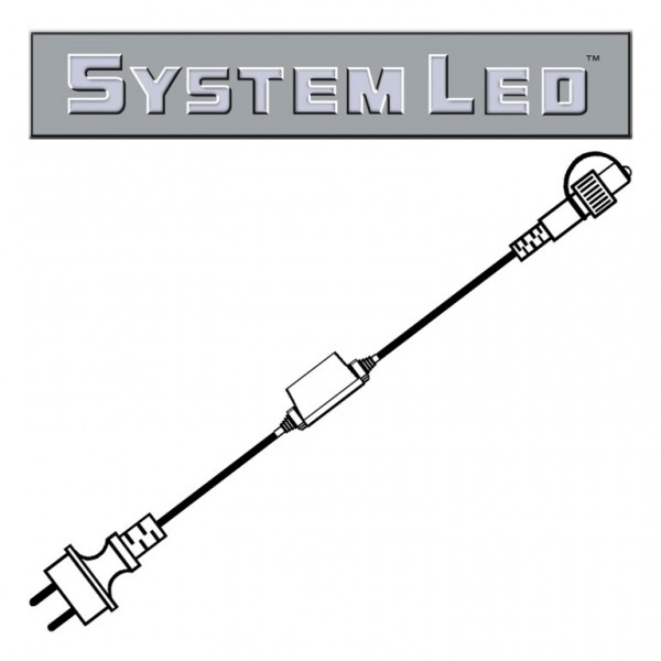 System LED White | Start-Trafo | koppelbar | 1,80m | max. 400W bzw. 100 System-Meter