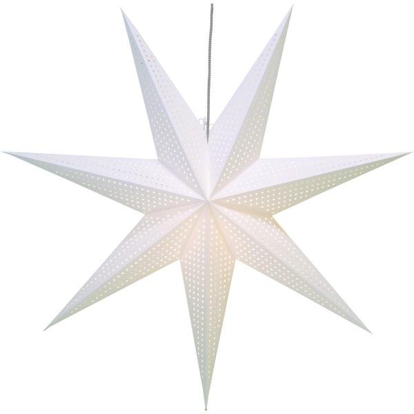 """Papierstern """"Huss """" - hängend - 7-zackig - Ø 100cm - inkl. Kabel - weiß"""