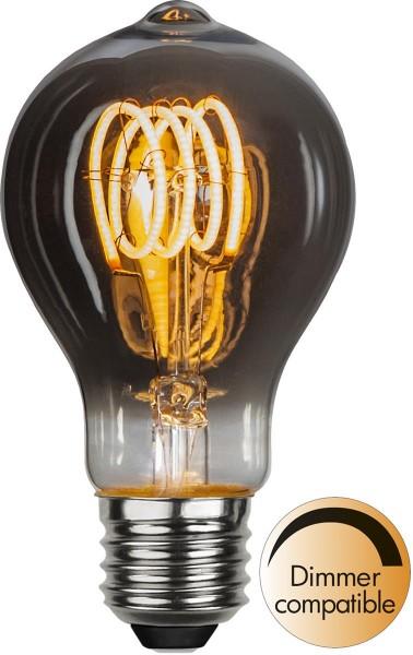 Leuchtmittel | LED | Filament | SPIRAL | E27 | Dimmbar | Tropfen | D: 60mm | Smoked Glas