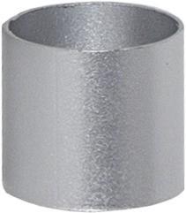 Ringhülse für Stabkerzen - silber - 7 Stück - D: 2,2cm - H: 2cm
