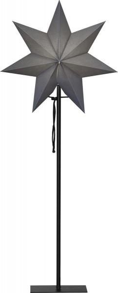 """Standstern """"Ozen"""" ca. 34 x 85 cm, Farbe: grau schwarzes Textilkabel, Material: Metall / Papier ohne Lochung, Vierfarb-Karton"""