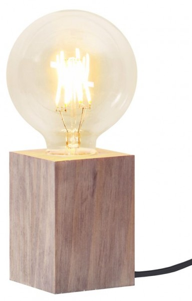 Lampenhalterung | LYS | E27 | →7cm x ↑10cm | 180cm Kabel | Holz Braun