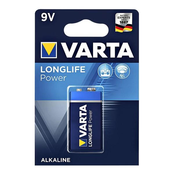 Varta Batterie Block 9V - LONGLIFE POWER - 1 Stück - Typ: 6LF22 - 9V - 4922